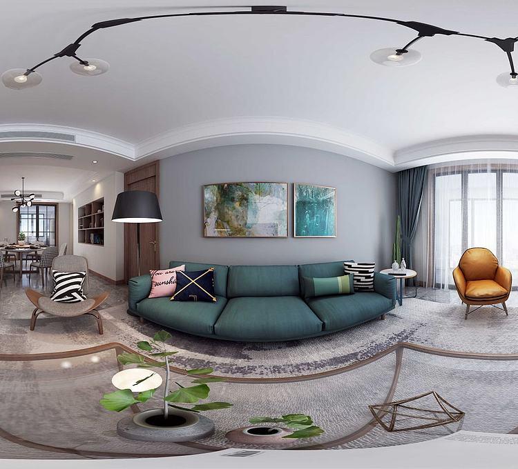 北欧客厅模型