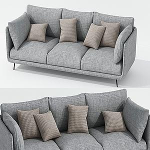 北欧三人沙发模型3d模型