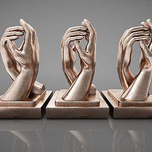雕塑摆件组合模型