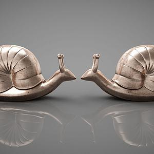 蜗牛摆件模型