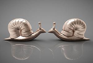 蜗牛摆件模型3d模型