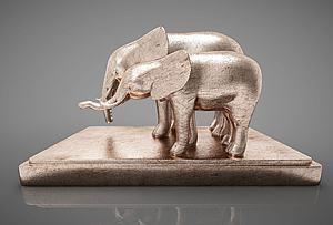 大象摆件组合模型3d模型