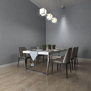 餐桌椅组合模型
