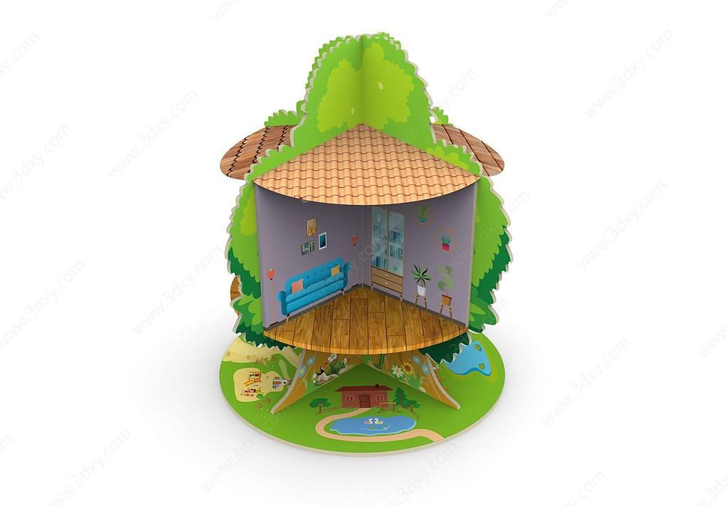 木质玩具树屋