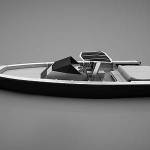 现代小船模型