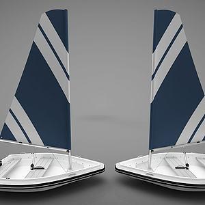 现代风格小船模型