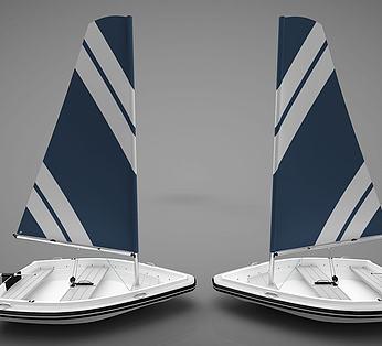 现代风格小船