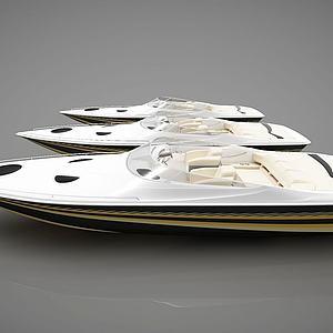 现代小船组合模型