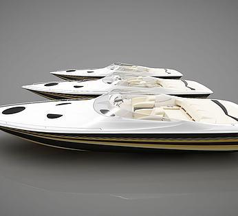 现代小船组合