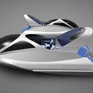 现代创意小船模型