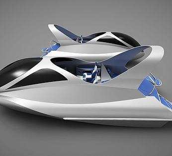 现代创意小船