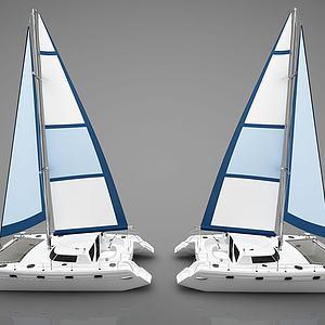 现代帆船模型