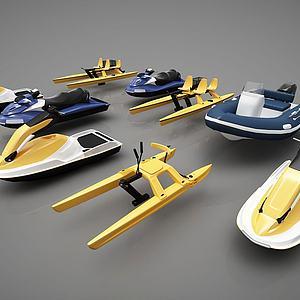 创意小船组合模型