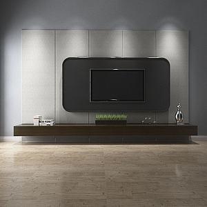 3d<font class='myIsRed'>电视柜</font>电视墙模型