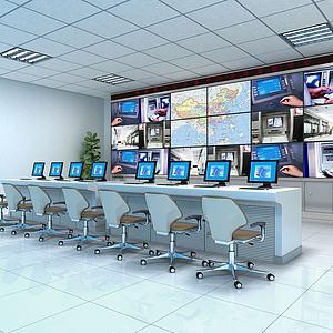 监控室值班室模型