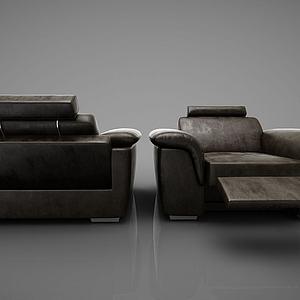 单人沙发躺椅模型