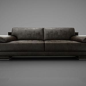 简约双人沙发模型