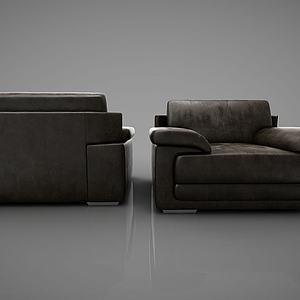 简约单人沙发模型