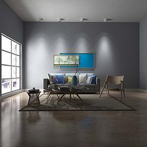 客厅沙发模型3d模型