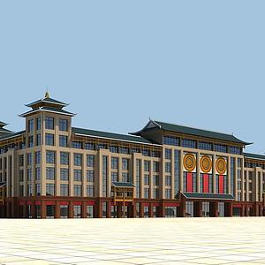 中式商场3d模型