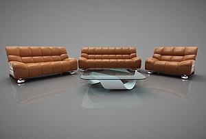现代多人沙发组合模型3d模型