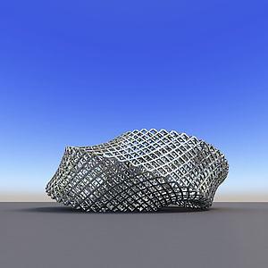 城市雕塑金属编织3d模型