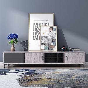 现代简约电视柜模型模型3d模型