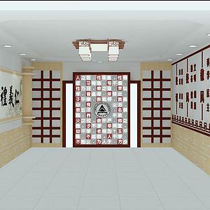 学校大厅模型