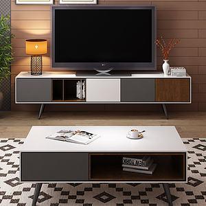 北欧电视柜模型3d模型