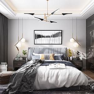 现代卧室模型