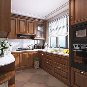 欧式厨房模型