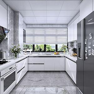 现代厨房模型