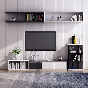 现代落地电视柜模型