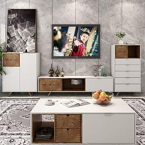 现代简约电视柜模型