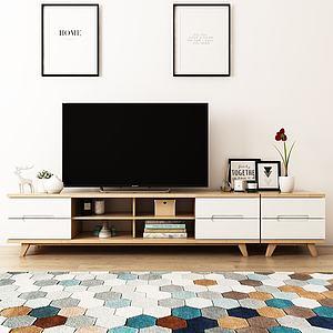 北欧电视柜模型