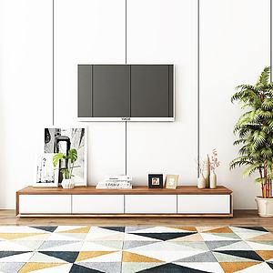 实木电视柜模型