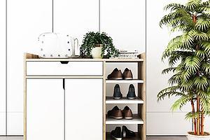 北欧实木鞋柜