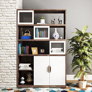 北欧书柜装饰柜书籍摆件模型