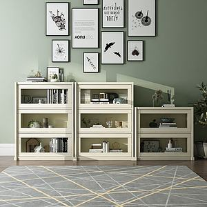 边柜置物柜地毯饰品画3d模型
