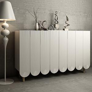 现代边柜装饰柜3d模型