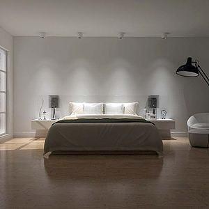极简简约卧室模型