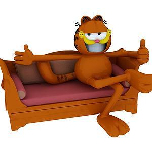 加菲猫座椅模型