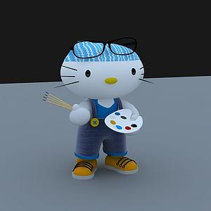 凯蒂猫3d模型