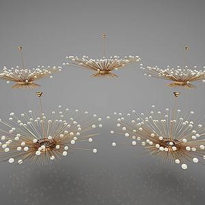 新中式灯具模型