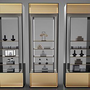 新中式组合柜子模型