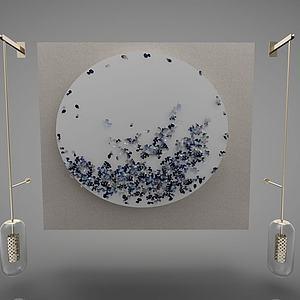 新中式的灯具模型