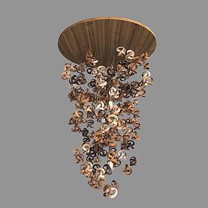 现代艺术吊灯模型