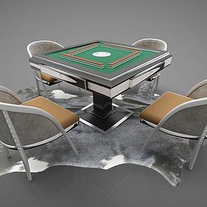 现代风格麻将桌模型