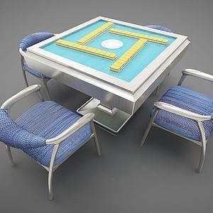 现代麻将桌模型