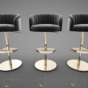 现代风格吧椅单人椅模型